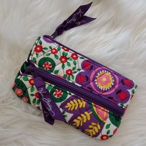 Vera Bradley key wallet coin purse EUC floral